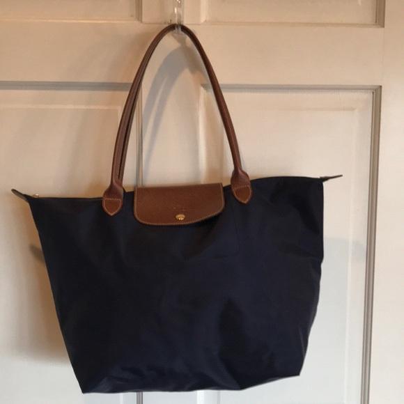 1c14227d937 Longchamp Handbags - New Longchamp Le Pliage Large Nylon Tote Bag Navy